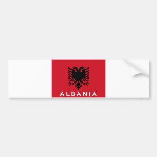 Autocollant De Voiture nom des textes de pays de drapeau de l'Albanie