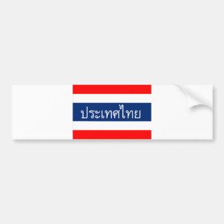 Autocollant De Voiture nom thaïlandais des textes de pays de drapeau de
