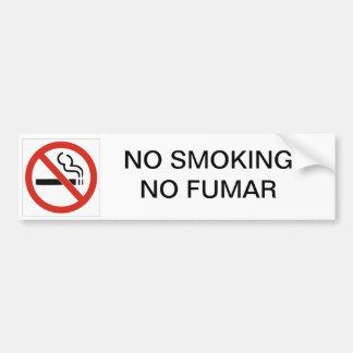 AUTOCOLLANT DE VOITURE NON-FUMEURS AUCUN ADHÉSIF POUR PARE-CHOCS DE