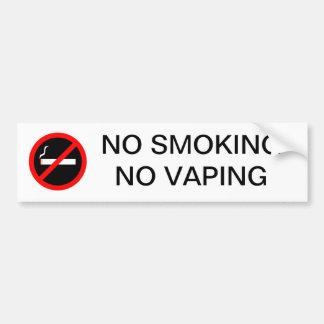 AUTOCOLLANT DE VOITURE NON-FUMEURS AUCUN SIGNE DE VAPING