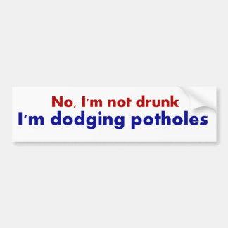 Autocollant De Voiture Non ivre, esquivant l'adhésif pour pare-chocs