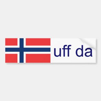 Autocollant De Voiture Norvégien drôle d'Uff DA Norvège