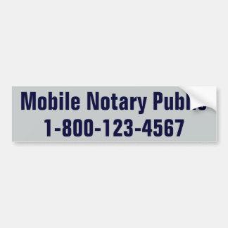 Autocollant De Voiture Notaire mobile