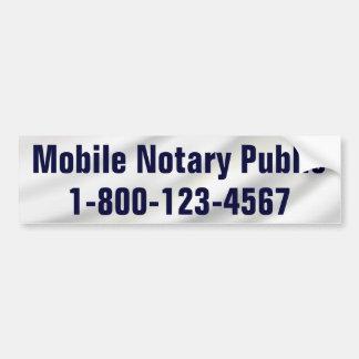 Autocollant De Voiture Notaire mobile avec le numéro de téléphone