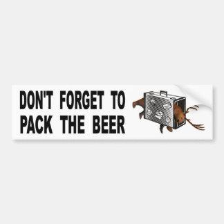 Autocollant De Voiture N'oubliez pas d'emballer la bière