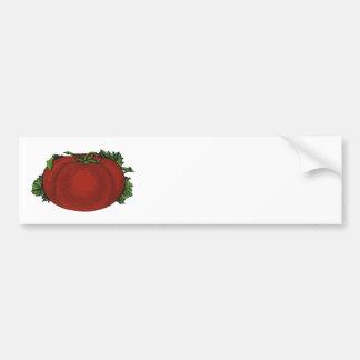 Autocollant De Voiture Nourritures vintages, tomate mûre, légumes et