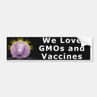 Autocollant De Voiture Nous aimons les OGM et l'adhésif pour pare-chocs