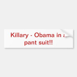 Autocollant De Voiture Obama dans un costume de culotte