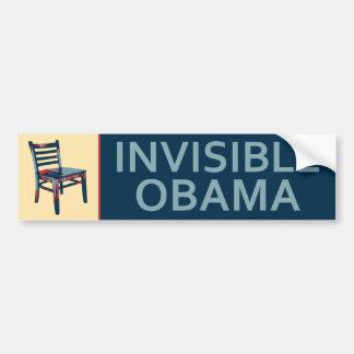 Autocollant De Voiture Obama invisible et la satire politique de chaise