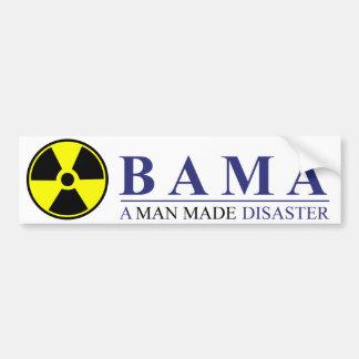 Autocollant De Voiture Obama - un homme a fait la catastrophe : Nucléaire