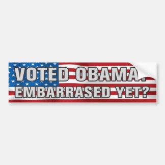 Autocollant De Voiture Obama voté ? Adhésif pour pare-chocs