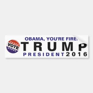 Autocollant De Voiture Obama, vous êtes mis le feu ! Pare-chocs politique
