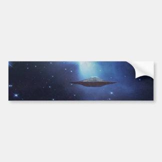 Autocollant De Voiture Objet de vol d'UFO dans l'espace