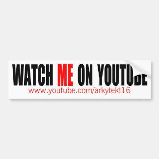 Autocollant De Voiture Observez-moi sur YouTube | modernes (foncé)