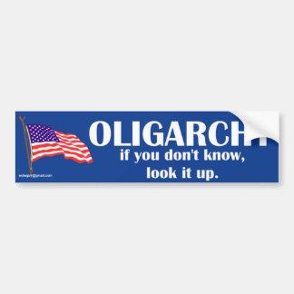 Autocollant De Voiture oligarchie