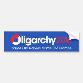 Autocollant De Voiture Oligarchie 2016 mêmes vieux mêmes vieux