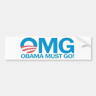 Autocollant De Voiture OMG Obama doit disparaître ! Adhésif pour
