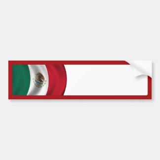 Autocollant De Voiture Ondulation de drapeau mexicain