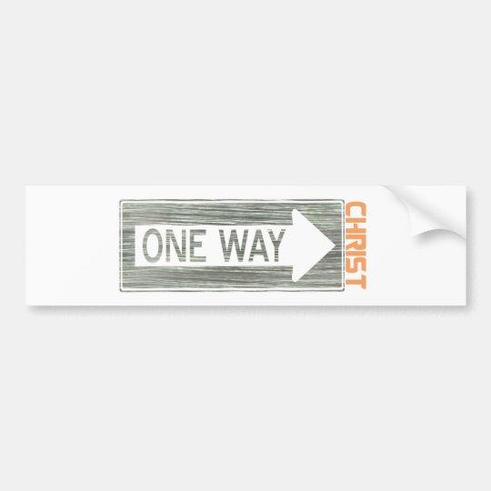 Autocollant De Voiture One Way-Christ Gris Orange