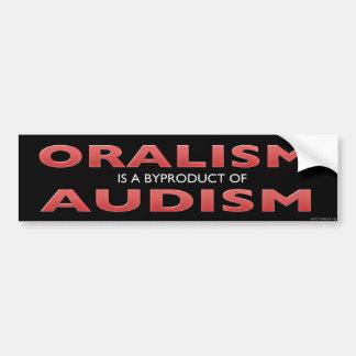 AUTOCOLLANT DE VOITURE ORALISM EST UN SOUS-PRODUIT D'AUDISM