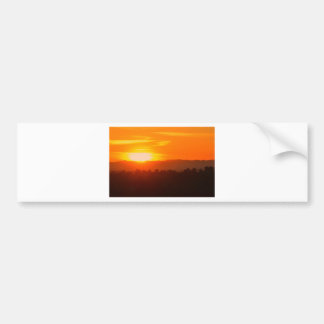 Autocollant De Voiture Orange orange Sun de ciel de Hollywood Los Angeles