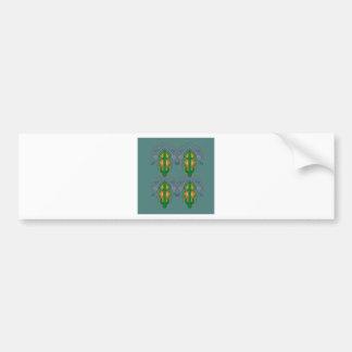 Autocollant De Voiture Ornements de luxe vert-bleu