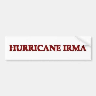Autocollant De Voiture Ouragan Irma Bumpersticker