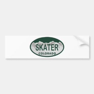 Autocollant De Voiture Ovale de permis de patineur