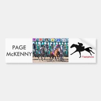 Autocollant De Voiture Page McKenny - enjeux de champion de PA