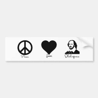 Autocollant De Voiture Paix * amour * adhésif pour pare-chocs de