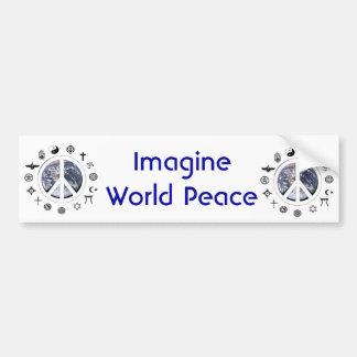 Autocollant De Voiture Paix du monde