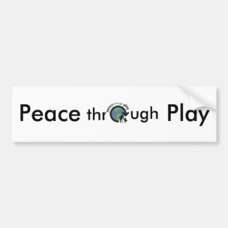 Autocollant De Voiture Paix par l'adhésif pour pare-chocs de jeu