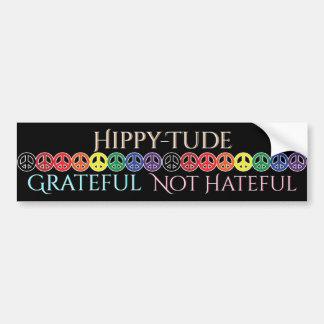 Autocollant De Voiture Paix reconnaissante d'attitude de Hippytude