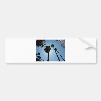 Autocollant De Voiture Palmiers Los Angeles Hollywood Etats-Unis