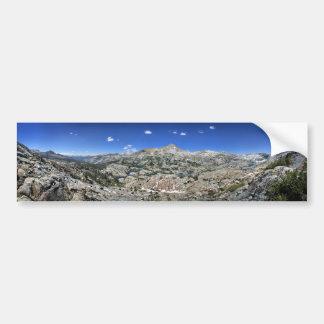 Autocollant De Voiture Panorama de bassin de lac medley de haute - sierra