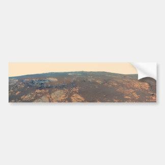 Autocollant De Voiture Panorama de colline de Matijevic de Mars Rover