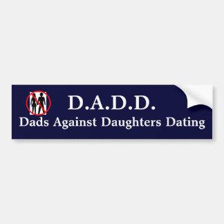 Autocollant De Voiture Papas contre dater de filles