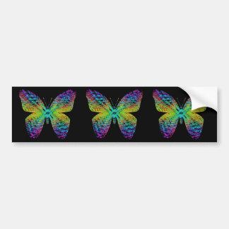 Autocollant De Voiture Papillon psychédélique