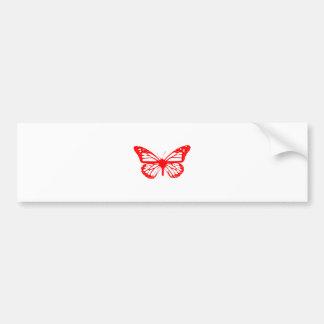 Autocollant De Voiture Papillon rouge