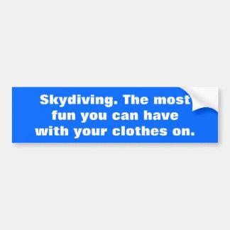Autocollant De Voiture Parachutisme, la plupart d'amusement que vous