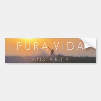 Autocollant De Voiture Pare-chocs de Pura Vida Costa Rica de surfer de