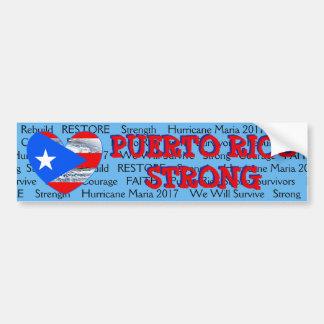 Autocollant De Voiture Pare-chocs fort de Maria d'ouragan de drapeau de
