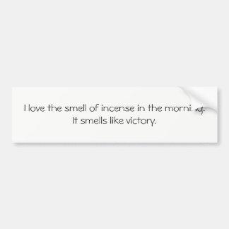 Autocollant De Voiture Pare-chocs plus malade : J'aime l'odeur de