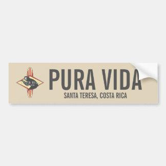 Autocollant De Voiture Pare-chocs rouge surfant de Pura Vida Costa Rica