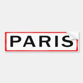AUTOCOLLANT DE VOITURE PARIS