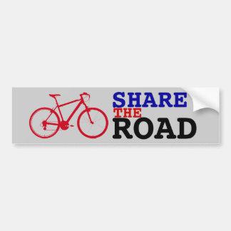 Autocollant De Voiture partagez faire du vélo de ~ de route