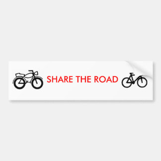 Autocollant De Voiture partagez la route