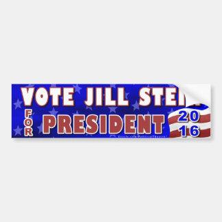 Autocollant De Voiture Parti Vert 2016 de président élection de Jill