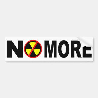 Autocollant De Voiture Pas plus d'anti adhésif pour pare-chocs nucléaire