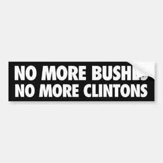 Autocollant De Voiture Pas plus ne bague plus de Clintons